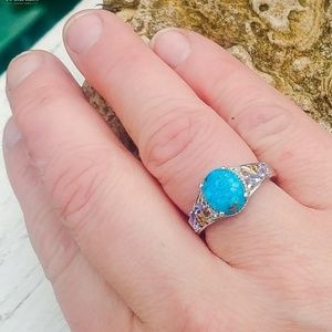 Persian Turquoise Sterling Silver Ring